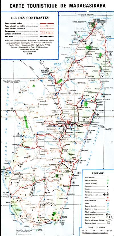 Карта дорог острова.
